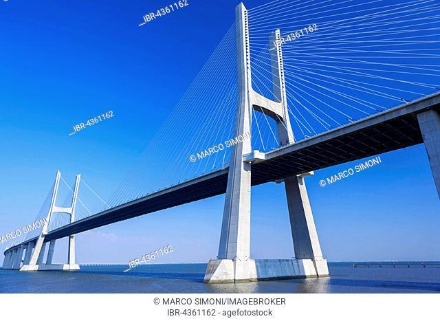 Vasco da Gama bridge, longest bridge in Europe, Lisbon, Portugal