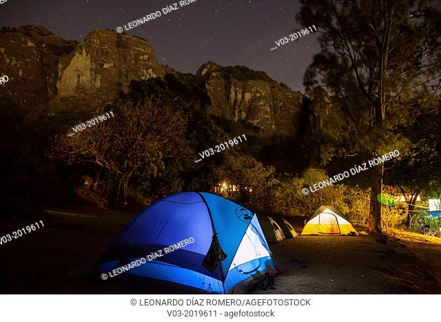 Camp tents at Tepoztlán, Mexico