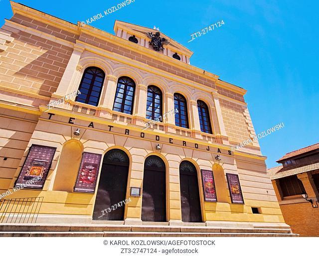 Spain, Castile La Mancha, Toledo, Plaza Mayor, View of the Teatro de Rojas.