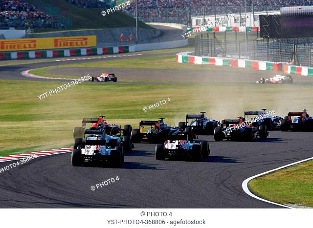 Race, Start of the race, F1, Japanese Grand Prix, Suzuka, Japan