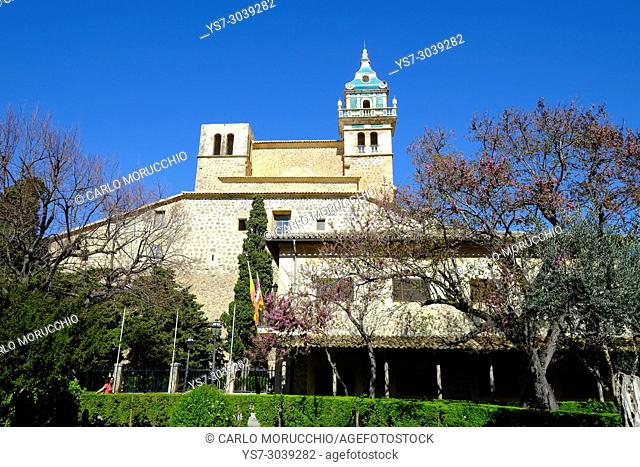 Royal Charterhouse of Jesus of Nazareth, Valldemossa, Tramuntana Mountain Range, Majorca, Spain