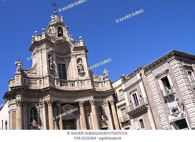 Basilica della Collegiata, Catania, Sicily, Italy