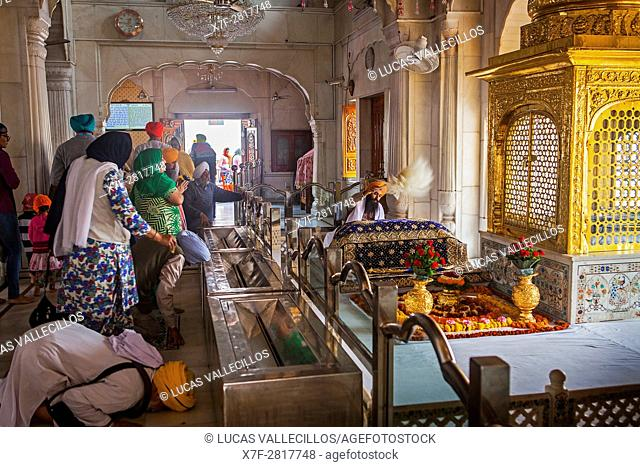 Interior of golden temple, Amritsar, Punjab, India