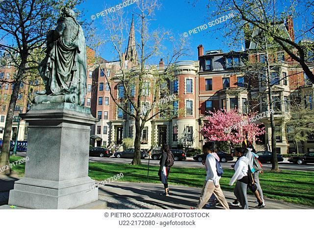 Boston, Massachusetts, U.S.A., view near Common Park