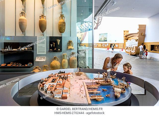 Spain, Murcia Community, Cartagena, Museum of Underwater Archeology (ARQUA, Museo Nacional de Arqueología Subacuatica), architect Guillermo Vàzquez Consuega