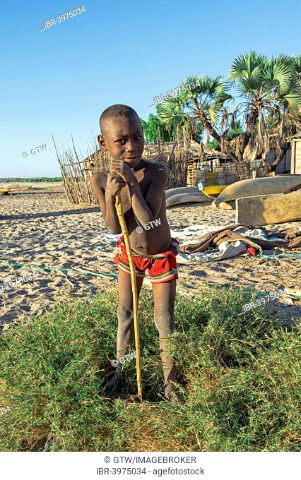 Smiling Malagasy boy, Betany village, Morondava, Toliara province, Madagascar