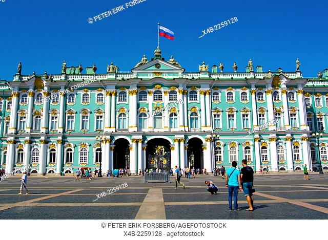 Winter Palace (1764), housing the Hermitage, Palace square, central Saint Petersburg, Russia, Europe