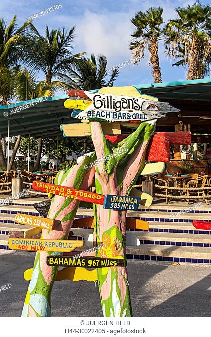 Aruba, Palm Beach, Sunset Bar,Gilligans Bar, Radisson Hotel, West Indies, Dutch Carribean, Central America