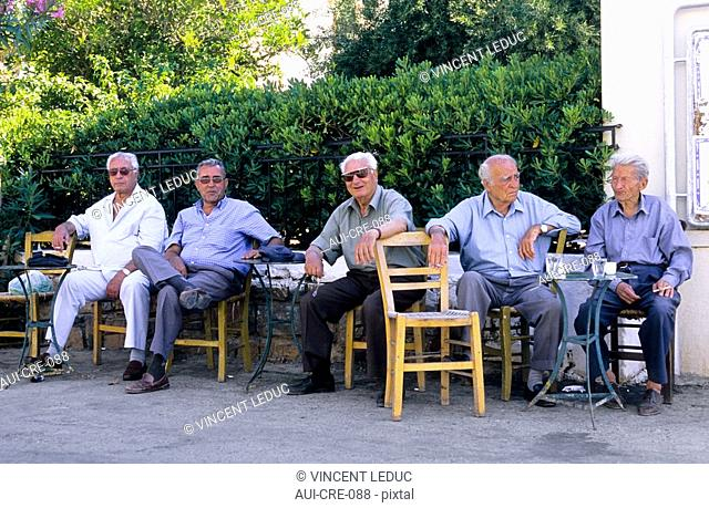 Greece - Crete - Coffeehouse at Elounda