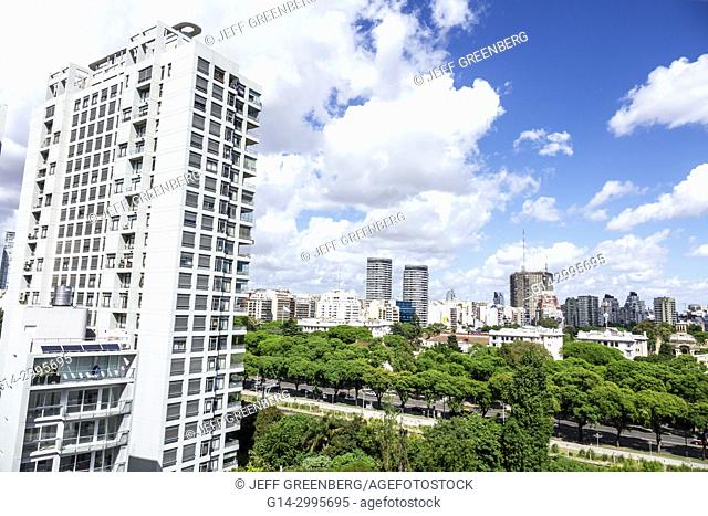 Argentina, Buenos Aires, Palermo, city skyline, apartment building, Hispanic, Argentinean Argentinian Argentine