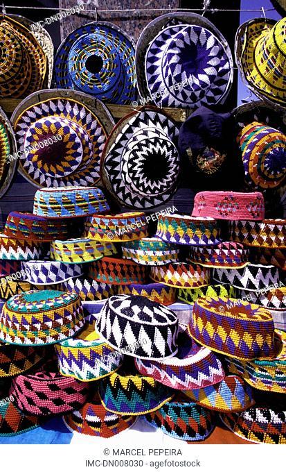 Egypt, Aswan, hats and skull-caps