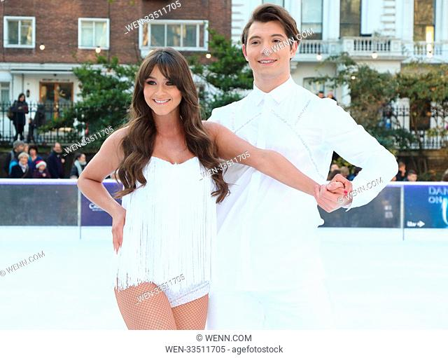 Dancing On Ice 2018 photocall at the Natural History Museum Ice Rink Featuring: Brooke Vincent, Matej Silecky Where: London