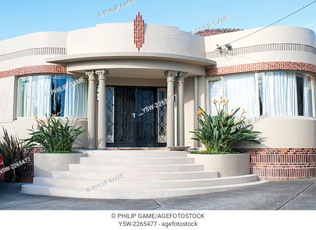 Waterfall (art deco) style homes in a Melbourne suburb, usually dating 1940-1950
