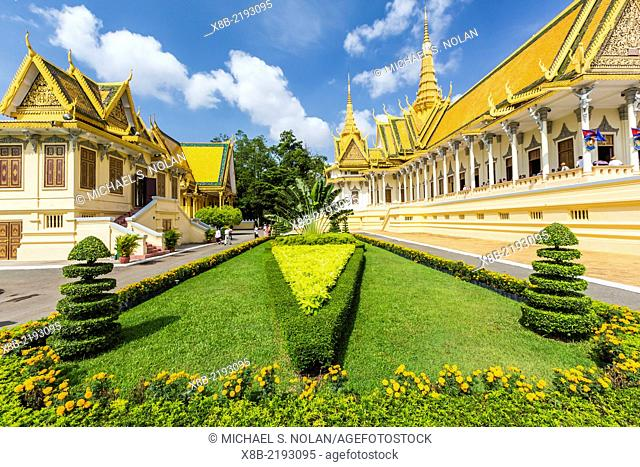 Throne Hall, Royal Palace, in the capital city of Phnom Penh, Cambodia (Khmer)