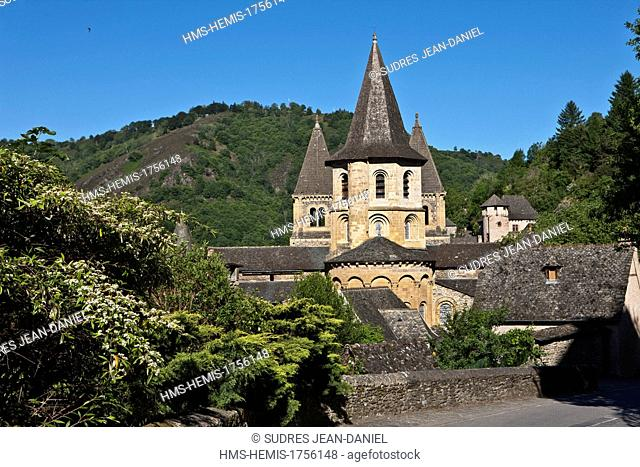 France, Aveyron, Conques, labeled Les Plus Beaux Villages de France (The Most Beautiful Villages of France), stop on El Camino de Santiago