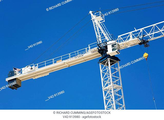 Construction Crane, Tucson, Pima County, Arizona, USA