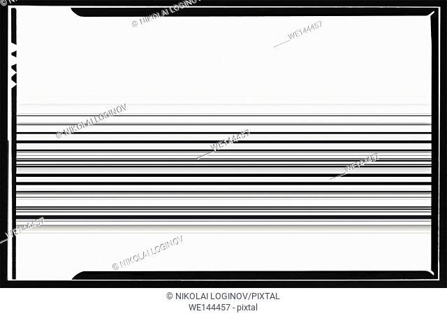 Horizontal black and white film scan lines illustration background