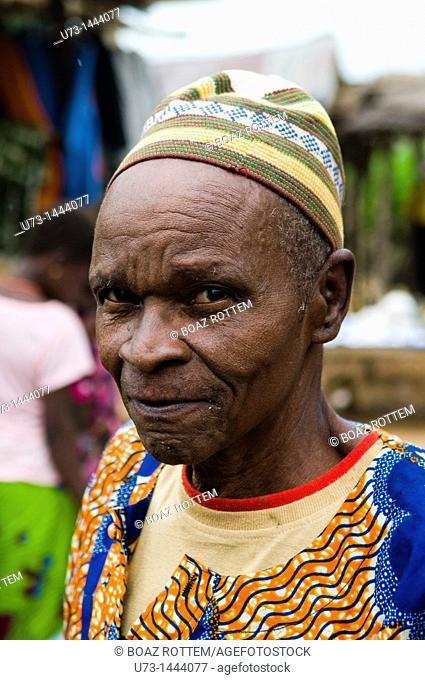 A colorful Muslim man in Benin