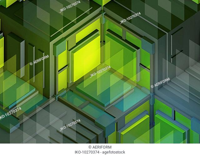 Illuminated three dimensional full frame abstract backgrounds pattern