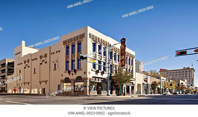 The KiMo Theatre is a theatre located at 423 Central Avenue NW in downtown Albuquerque, New Mexico and it is probably the city's