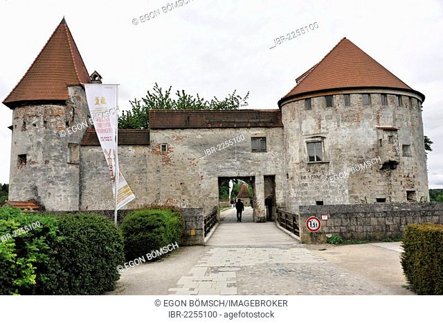 Burghausen Castle, part of the castle complex, 14th - 15th century, 1, 043 meters long and the longest castle in Europe, Burghausen, Upper Bavaria, Bavaria