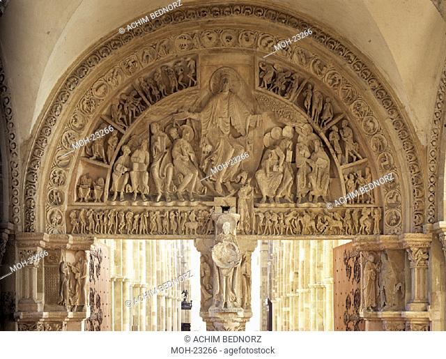Vezelay, St. Madeleine/ Tympanon, Pfingstwunder
