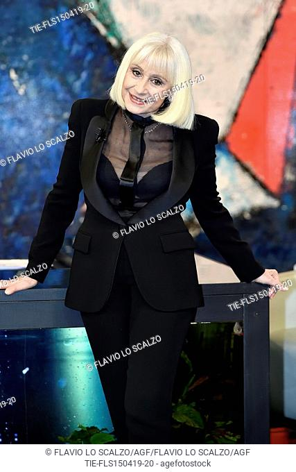 Raffaella Carra' during the tv show Che tempo che fa, Milan, ITALY-14-04-2019
