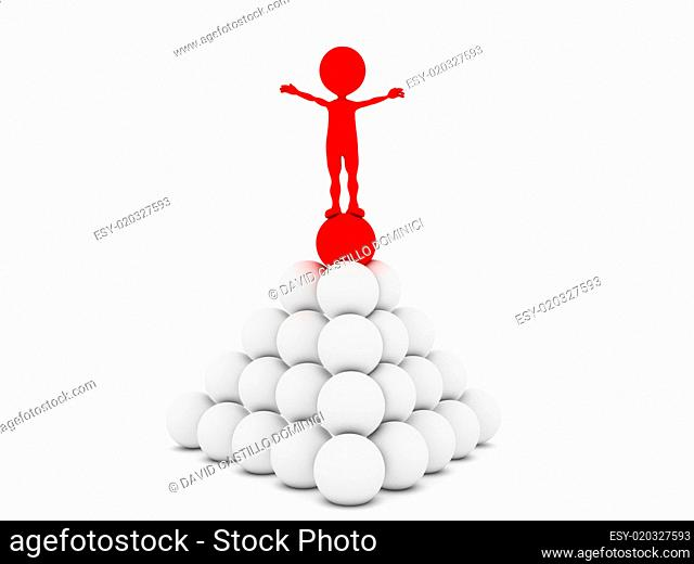 3d illustration of leadership and hierarchy concepts