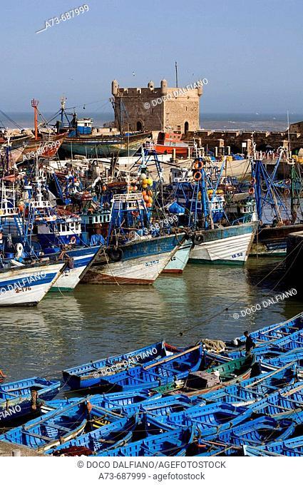 Fishing port, Essaouira. Morocco