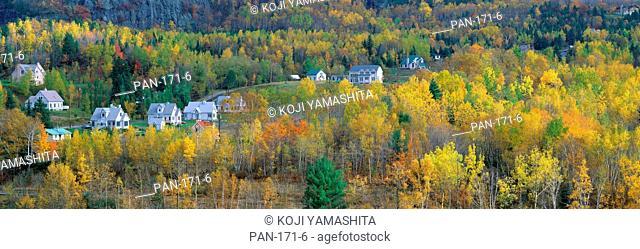 Autumn Scene, Laurentides, Quebec, Canada