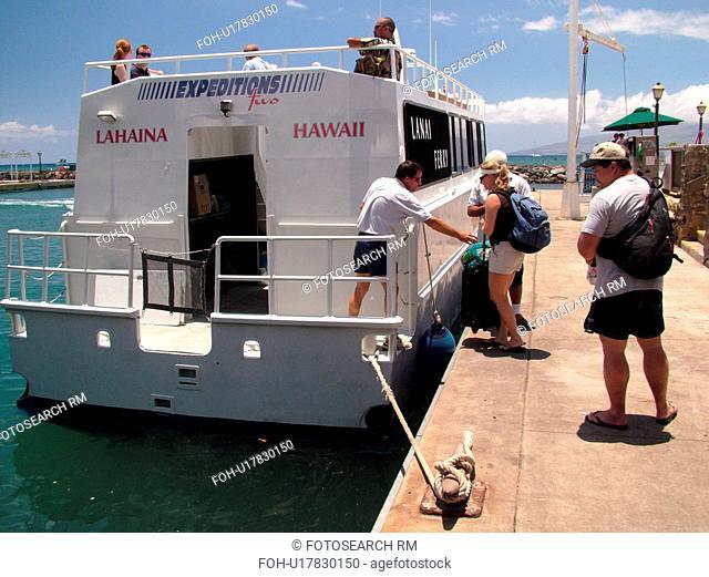 Lahaina, Maui, HI, Hawaii, West Maui, Lahaina Harbor, Lanai Expeditions Two Ferry, passenger ferry