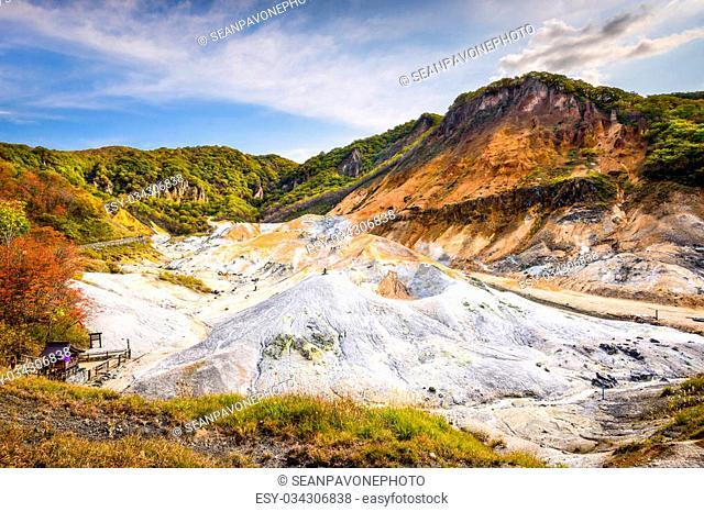 "Noboribetsu, Hokkaido, Japan at """"Hell Valley."""""""""""