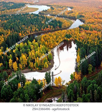 Autumn in Siberia. Top view