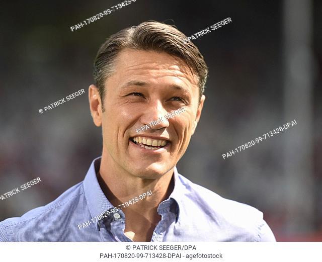 Frankfurt's manager Niko Kovac ahead of the German Bundesliga soccer match between SC Freiburg and Eintracht Frankfurt in the Black Forest Stadium in Freiburg