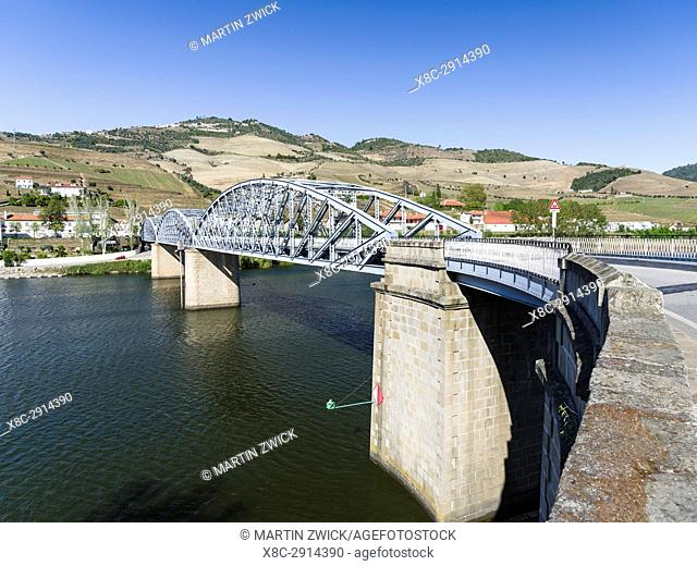 Village Pinhao and river Douro. The valley of river Douro. It is the wine growing area Alto Douro and listed as UNESCO World heritage