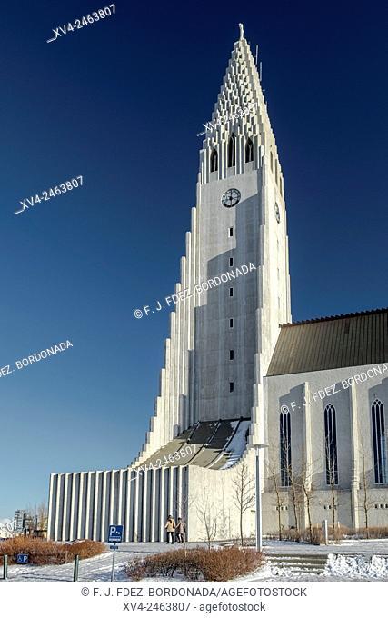 Hallgrimskirkja Cathedral, Reykjavik Downtown, Iceland