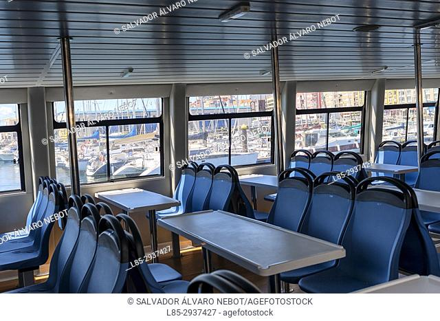 Ferry in the Rias Baixas, Pontevedra, Spain, Europe