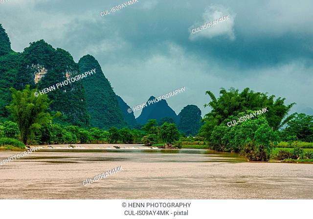 Yulong river, Guangxi, China