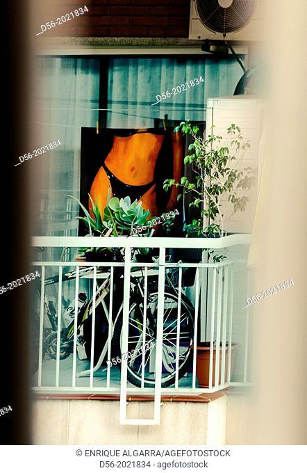 Towel in a balcony, Spain