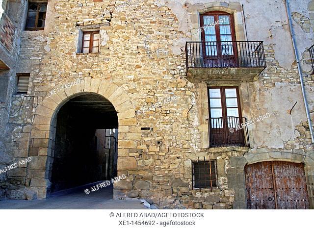 Portal del Marti, S. XIV, Santa Coloma de Queralt, Catalonia, Spain