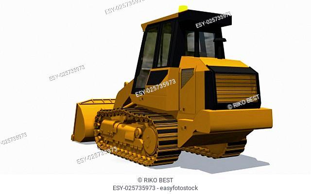 loader bulldozer isolated on white background