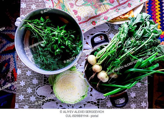 Arrangement of variety of vegetables