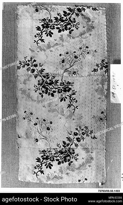 Piece. Date: 1750-60; Culture: French; Medium: Silk; Dimensions: Overall: 22 x 11 in. (55.9 x 27.9 cm); Classification: Textiles-Woven; Credit Line: Rogers Fund