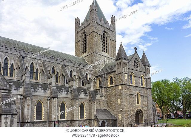 DUBLIN, IRELAND: Exterior view of the Christ Chuch Cathedral