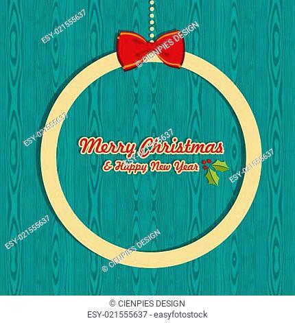 Retro Christmas greeting card
