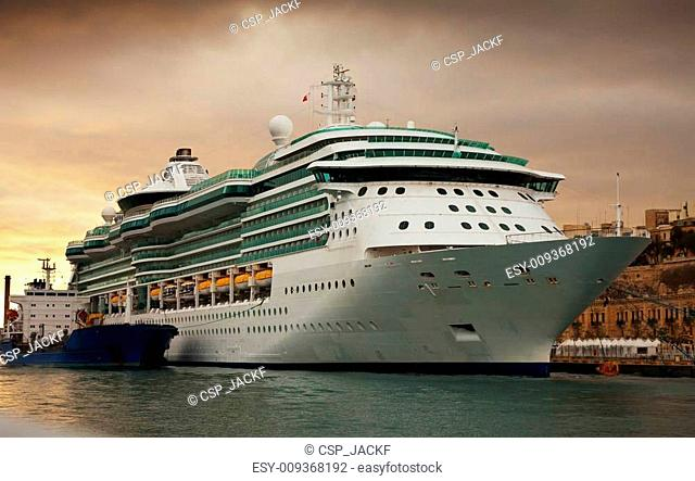 cruise liner in the port