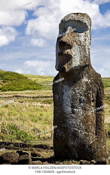 Moai at the entrance of Ahu Tongariki