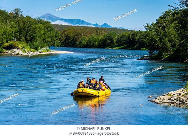 River rafting on the Bystraya river, Kamchatka, Russia