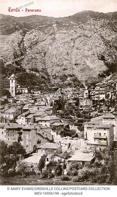 Panoramic view of Tenda, Piemonte, Italy (near Cuneo)