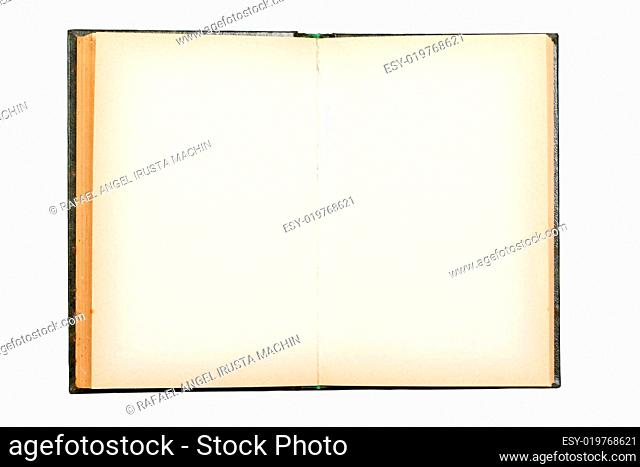 Old book open on both empty pages